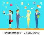business people using digital... | Shutterstock .eps vector #241878040