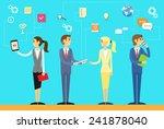 business people using digital... | Shutterstock .eps vector #241878040