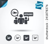 strike sign icon. group of... | Shutterstock .eps vector #241878376