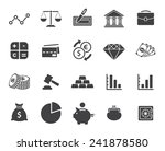 finance icons set  modern flat... | Shutterstock .eps vector #241878580