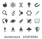 science icons  modern flat...