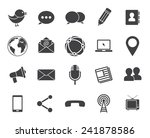 media and communication icons ... | Shutterstock .eps vector #241878586