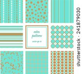 collection of seamless retro... | Shutterstock .eps vector #241879030