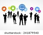 the social media gathering | Shutterstock .eps vector #241879540
