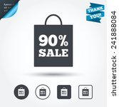 90  sale bag tag sign icon.... | Shutterstock .eps vector #241888084