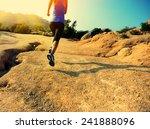 young woman runner legs running ...   Shutterstock . vector #241888096