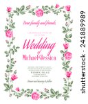 marriage invitation card with... | Shutterstock .eps vector #241889989