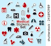 set of medical icon stickers... | Shutterstock .eps vector #241892989
