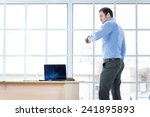 time make business. cheerful... | Shutterstock . vector #241895893