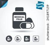 medical pills bottle sign icon. ...   Shutterstock .eps vector #241897159
