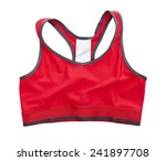 Red Sports Bra Isolated On...