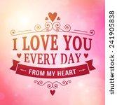 valentine and wedding... | Shutterstock .eps vector #241905838