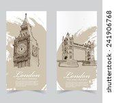 vector template banners. hand... | Shutterstock .eps vector #241906768