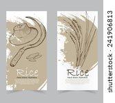 vector template banners. hand... | Shutterstock .eps vector #241906813