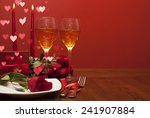 Romantic Dinner With Hearts....