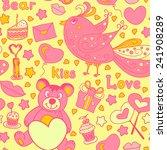 seamless pattern for valentine...   Shutterstock .eps vector #241908289