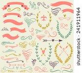 vector  romantic set with... | Shutterstock .eps vector #241911964