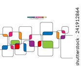 colorful overlapping squares... | Shutterstock .eps vector #241912864
