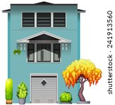 side view of a house with... | Shutterstock .eps vector #241913560