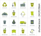 recycling garbage icons set.... | Shutterstock .eps vector #241915864