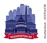 washington dc skyline. vector... | Shutterstock .eps vector #241916158