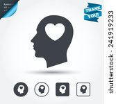 head with heart sign icon. male ... | Shutterstock .eps vector #241919233