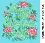 happy valentines day | Shutterstock .eps vector #241921558