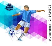 vector concept of soccer player ... | Shutterstock .eps vector #241924528