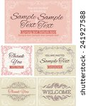 vintage invitations and frames. ... | Shutterstock .eps vector #241927588