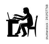 programmer silhouette working... | Shutterstock .eps vector #241927768