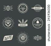 retro design insignias... | Shutterstock .eps vector #241936330