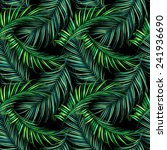 tropical palm leaves. seamless... | Shutterstock . vector #241936690