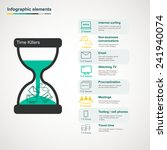 time killers infographic with... | Shutterstock .eps vector #241940074