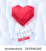 red origami heart on white... | Shutterstock .eps vector #241946260
