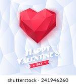 red origami heart on white... | Shutterstock .eps vector #241946260