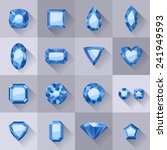set of flat style blue jewels.... | Shutterstock .eps vector #241949593