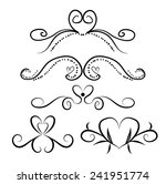 set of page decoration line... | Shutterstock .eps vector #241951774