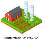 Vector Farming Image Isomeric...