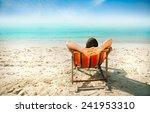 man enjoying lazy afternoon at... | Shutterstock . vector #241953310