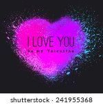vector spray stains.... | Shutterstock .eps vector #241955368