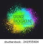 neon vector spray stains | Shutterstock .eps vector #241955404