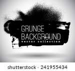 black ink vector spray stains | Shutterstock .eps vector #241955434