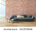 loft interior with brick wall... | Shutterstock . vector #241955848