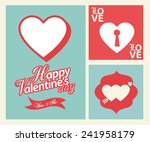 happy valentines day cards with ... | Shutterstock .eps vector #241958179