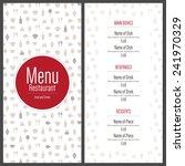 restaurant menu design. vector...   Shutterstock .eps vector #241970329