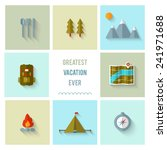 camping flat design. eps 10.... | Shutterstock .eps vector #241971688