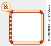 perforated frame for any text... | Shutterstock .eps vector #241972273