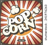 Pop Corn Retro Design Tin Sign...