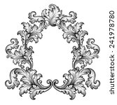 vintage baroque frame scroll... | Shutterstock .eps vector #241978780