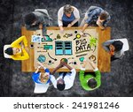 diversity business people big... | Shutterstock . vector #241981246
